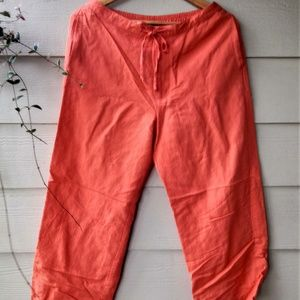 Sigrid Olsen| Linen Capri Pants for Women - Medium